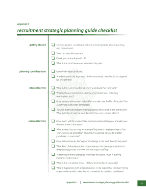 POST Recruitment Strategic Planning Guide. This Recruitment Strategic Planning Guide is intended to provide a road map that state and local agencies can use to develop a recruitment strategic plan. Its purpose is to help agencies apply - -