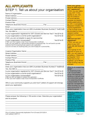 107 Printable Sponsorship Proposal Template Forms Fillable