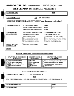 Fillable Online To Download Our Prescription Form Template Hmi Medical Fax Email Print Pdffiller