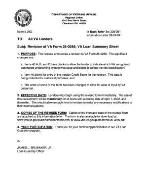 Fillable Online vba va 26-02-04 Revision of VA Form 26-0286, VA ...