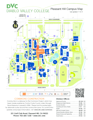Diablo Valley College Pleasant Hill Campus Map Contra 144378