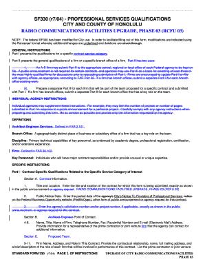 standard form 330  Fillable Online honolulu Modified Standard Form 7 (r/7/7 ...