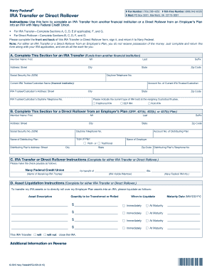 Fillable Ira Transfer Form For Navy Fedeal Credit Uion - Fill ...