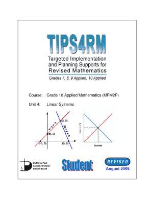 Fillable Online Course: Grade 10 Applied Mathematics (MFM2P) Unit 4