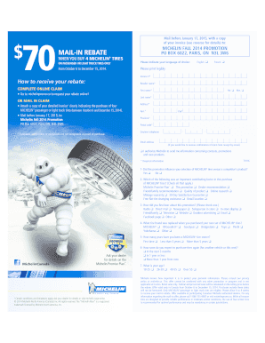 Fillable Online michelin Download the rebate form in PDF ...