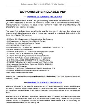 Fillable Online jansbooks DD FORM 2813 FILLABLE. DD FORM 2813 ...