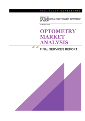 OPTOMETRY MARKET ANALYSIS - ACIL Allen Consulting