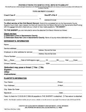 Fillable Online 7483 Form 056 Bench Warrant Instruction