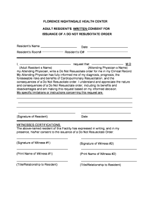 Bill Of Sale Form Texas Do Not Resuscitate Form Templates ...