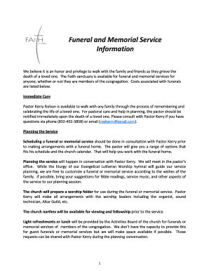 funeral planning guide pdf fill out online download printable