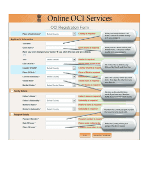 Fillable Online Sample OCI Application Form Fax Email Print ...