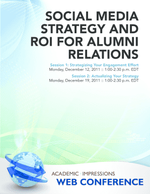 Social media strategy and roi for alumni relations - Academic ...