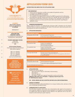University Of Johannesburg Prospectus Pdf