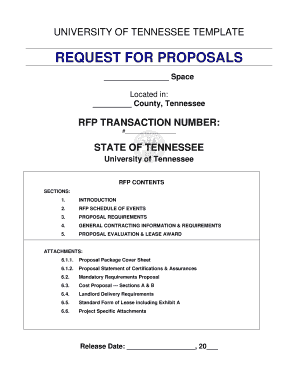 Lease RFP Template - State of Tennessee - tn