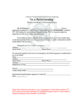 Lds Youth Permission Slip Template  Permission Slip Template Word