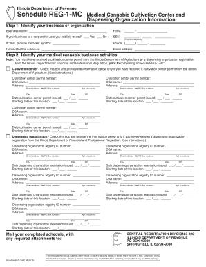 Fillable Online tax illinois Schedule REG-1-MC, Medical
