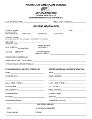 Fillable online krtams elementary middle school application form rate this form altavistaventures Gallery