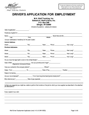 driver employment application form ecza productoseb co