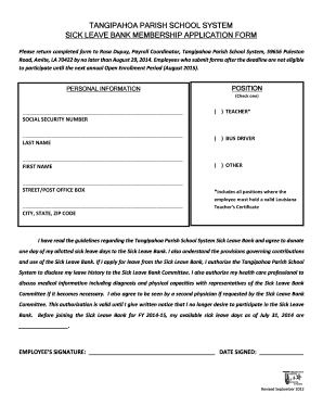 Fillable sick leave application for school - Edit Online & Download