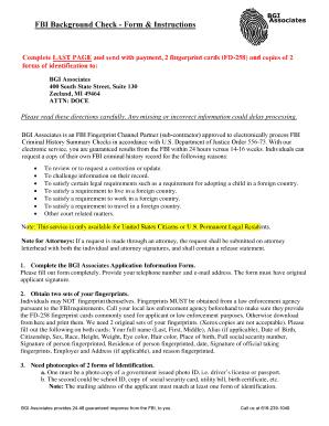 Fillable Online Fbi Background Check Form Amp Instructions
