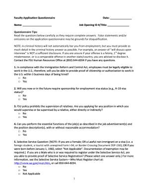 questionnaire template doc