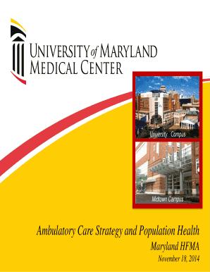 Fillable Online hfmamd Ambulatory Care - HFMA Maryland