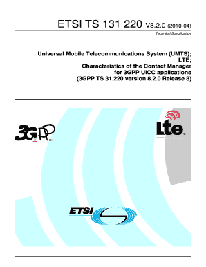 TS 131 220 - V820 - Universal Mobile Telecommunications
