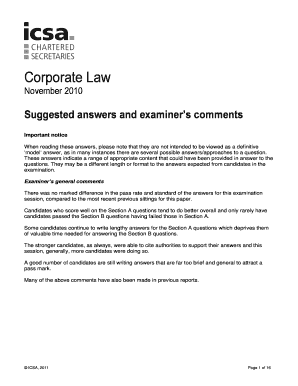 corporate law question and answer