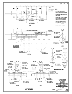 Standard M617-64  Steel-backed Timber Guardrail Test Level 2