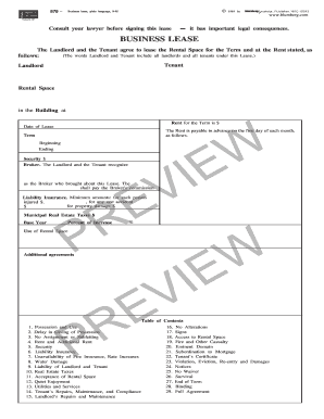 M879 Business Lease Form