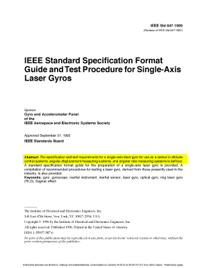 Fillable Online Control Aau Ieee Std 647 1995 Revision Of Ieee Std