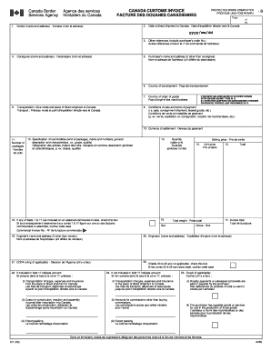 30 Printable Canada Customs Invoice Forms And Templates Fillable Samples In Pdf Word To Download Pdffiller