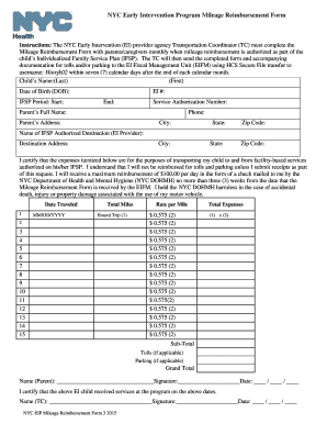 27 printable gas mileage reimbursement form templates fillable