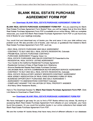 Fillable online tolian blank real estate purchase agreement form fill online platinumwayz