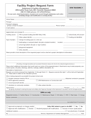 Fillable Online montgomerycountymd Facility Project Request Form ...