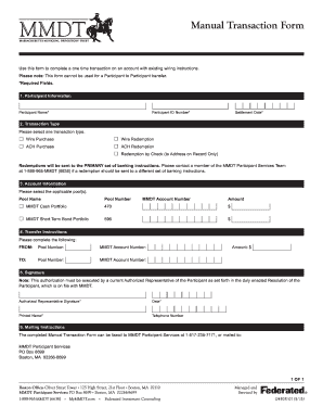 Manual Transaction Form - MyMMDT