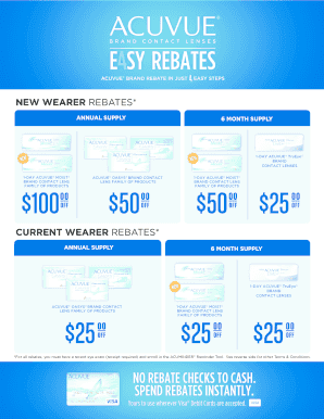 Fillable Online Acuvue Brand Rebate In Just Fax Email Print