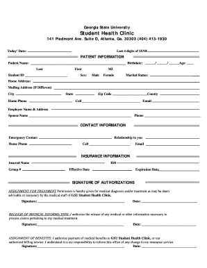 Fillable Online Patient Demographic Information Form.doc Fax Email ...