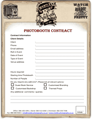 Pdffiller Photo Booth Fill Online Printable Fillable Blank