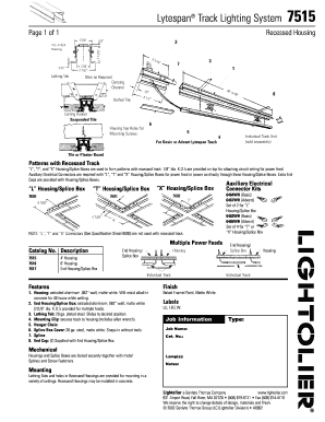 Fillable online lytespan track lighting system 7515 lightolier fill online mozeypictures Image collections