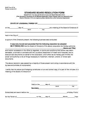 Board Resolution Sample Forms and Templates - Fillable & Printable ...