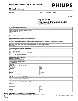 corrective action report Fillable Online Field Safety Corrective Action Report Form Fax Email ...
