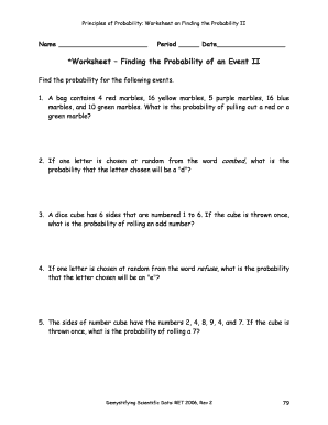Fillable Online haystack Worksheet Finding the Probability of an