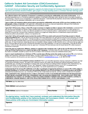 CSAC Information Security and Confidentiality Agreement. System Administrators Access Request Form