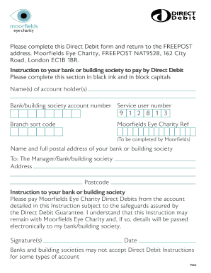 Direct Debit Form.pdf - Moorfields Eye Hospital