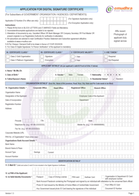 EMUDHRA DIGITAL SIGNATURE FORM PDF
