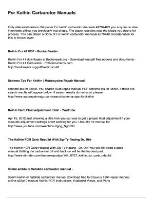 Fillable Online Fcr Keihin Carburetor Manuals Fax Email
