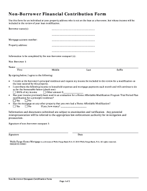 Wells fargo modification forms