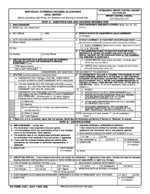 Fillable Online dtic DD Form 2367, Individual Overseas Housing ...