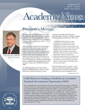 September 2015, Vol. 45, Issue 5 - American Academy of Forensic ...